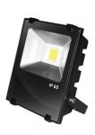 EUROELECTRIC LED COB Прожектор чёрный с радиатором 10W 6500K modern