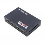Сплиттер HDMI 1x4 порта, разветвитель, коммутатор,  активный