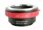 Адаптер переходник Nikon G - Sony NEX E, красный Ulata