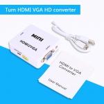 Конвертер с HDMI в VGA c дополнительным питанием и звуком