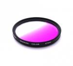 Цветной фильтр 67мм фиолетовый градиент, CITIWIDE