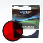 Цветной фильтр 77мм красный, CITIWIDE
