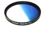 Цветной фильтр 77мм синий градиент, CITIWIDE