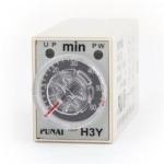 Реле времени, таймер Omron H3Y-2, 0-60мин 220В 5А