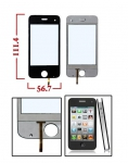 Сенсорный экран J8+ WIFI 2Sim тачскрин дисплей тач