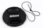 Крышка Nikon диаметр 49мм, с шнурком, на объектив