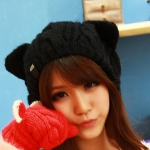 Шапка с ушками, cat стиль, вязаная шапка