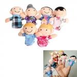 6x М'яка іграшка на палець, сімейка, ляльковий театр