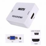VGA - HDMI TV конвертер видео, аудио, 1080P, белый