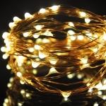Светодиодная беспроводная LED гирлянда, Гирлянда КАПЕЛЬКИ - 10 метров 100 светодиодов