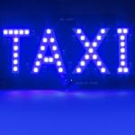 Табличка-шашка такси TAXI светодиодная 45 SMD LED, улучшенная, зеленый, белый, синий, красный цвет