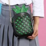 Женская молодежная сумочка ананас, фрукт, двойная сумка