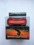 Мигалка DMFL-526 COB, зарядка от USB, красная