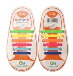 Ленивые шнурки силиконовые для обуви, детские, пара