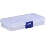 Коробка органайзер кейс бокс для снастей бисера 12.5х6.3см 10 ячеек