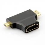 Адаптер-переходник с HDMI на Mini HDMI и Micro HDMI (Full HD +3D)