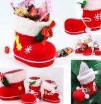 Комплект с трьох новорічних черевичків для подарунків на Різдво і Новий рік
