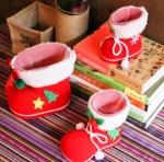 Набор из трех ботинок, новогодних сапогов для подарков на Рождество и Новый год