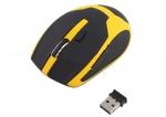 10М 2.4 беспроводная оптическая мышка мышь желтая