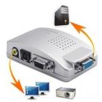 Конвертер видеосигнала с VGA – в RCA, S-Video