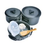 Набір туристичного посуду багатокомпонентний компактний легкий