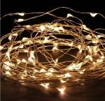 Светодиодная беспроводная LED гирлянда, Гирлянда КАПЕЛЬКИ - 5 метров 50 светодиодов