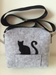 Молодежная дизайнерская сумка с черным котом