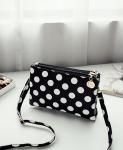 Женская сумочка клатч с рисунком горошек