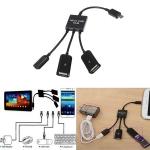 micro USB Hub 3 в 1, хаб для телефонов, планшетов с OTG